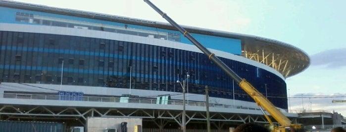Construção da Arena do Grêmio is one of Aqui na terra tão jogando futebol.