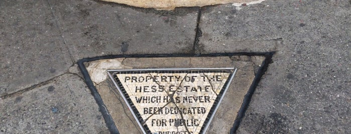 Hess Triangle is one of Atlas Obscura NYC.