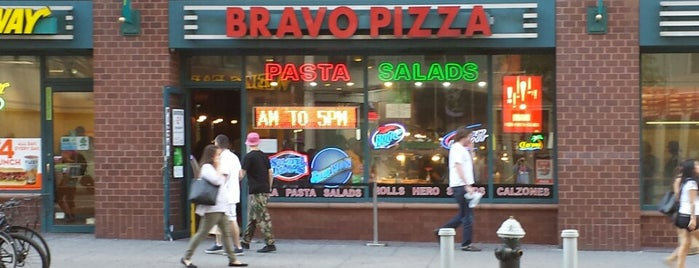Bravo Pizza is one of USA NYC Restos.