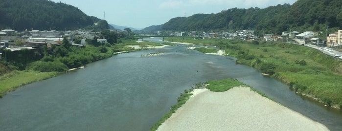 近鉄吉野線 吉野川橋梁 is one of Orte, die 高井 gefallen.