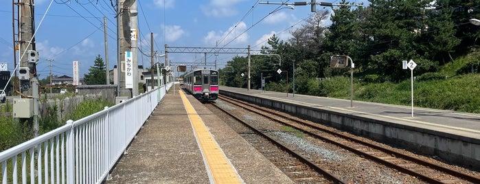道川駅 is one of JR 키타토호쿠지방역 (JR 北東北地方の駅).