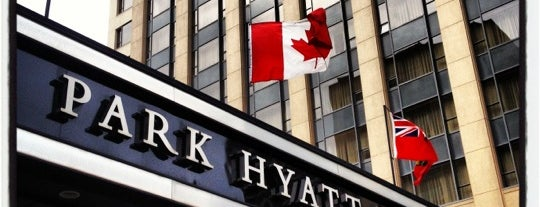 Park Hyatt Toronto is one of Tempat yang Disukai Sir Chandler.