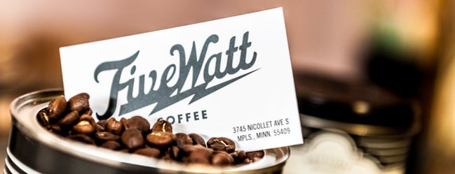 Five Watt Coffee is one of Out-of-Towners' Guide to Minneapolis - 2015.