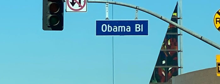 Obama Boulevard is one of West Coast- LA.