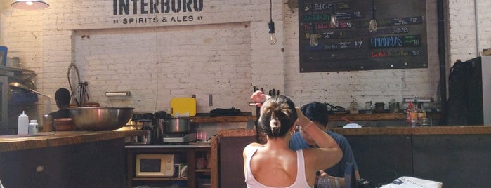 Interboro Spirits and Ales is one of To Try in NYC.