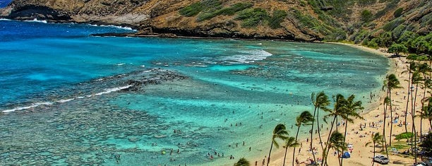 Hanauma Bay Nature Preserve is one of O'ahu, Hawaii.