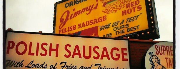 Original Jimmy's Red Hots is one of Hot Spots.
