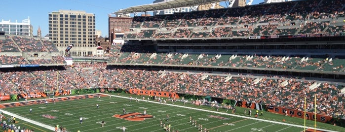 Paul Brown Stadium is one of sports arenas and stadiums.
