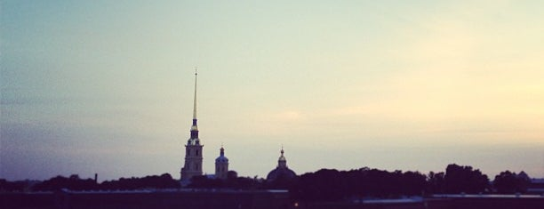 Beach of Peter and Paul Fortress is one of Russia.