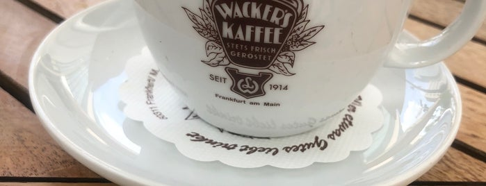 Wacker's Kaffee is one of Frankfurt.