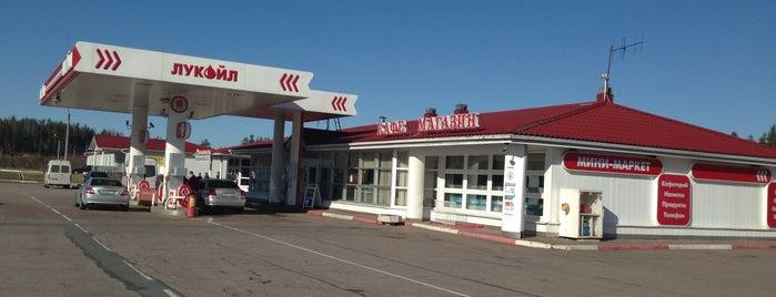 Лукойл АЗС № 102 is one of Lugares favoritos de Евгений.