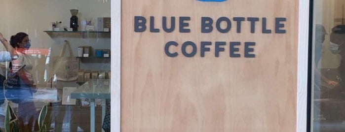 Blue Bottle Coffee is one of Los Angeles cafes.