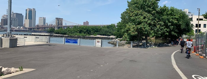 Brookyn Bridge Park Greenway is one of USA NYC BK DUMBO.