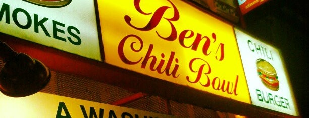 Ben's Chili Bowl is one of Washington DC.
