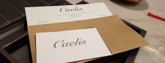 Caelis is one of Michelin-stars restaurants in Barcelona.