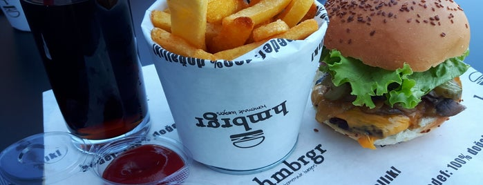 Hmbrgr - Homemade Burgers is one of สถานที่ที่ Olcay ถูกใจ.