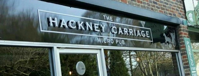 The Hackney Carriage is one of South East Micropubs.