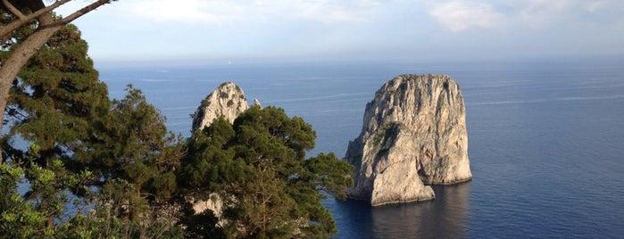 Belvedere Tragara is one of A spasso per Capri - Napoli - Campania.