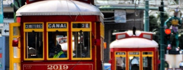 Riverfront /Canal Street trolley is one of NOLA.