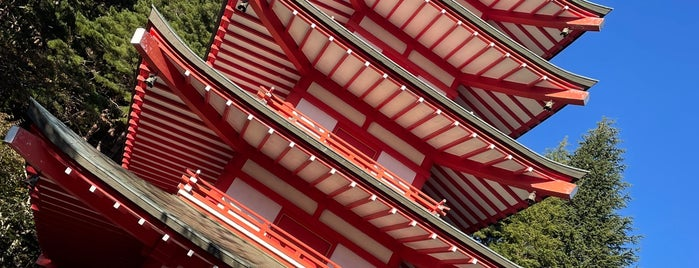 Chureito Pagoda is one of Japan.