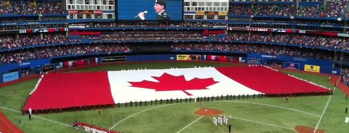 Rogers Centre is one of MLB Ballparks.