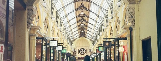 The Royal Arcade is one of Magnificent Melbourne.