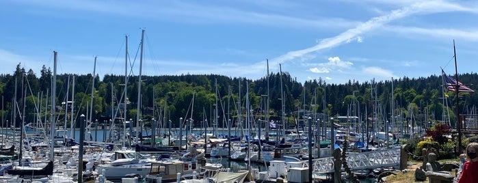 Doc's Marina Grill in Bainbridge Island is one of Seattle Eats.