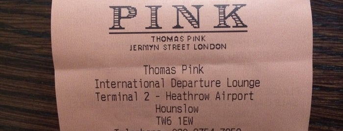 Thomas Pink is one of London Life Style.