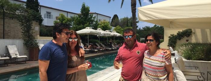 On the Verandah @ Poseidonion Grand Hotel is one of Posti che sono piaciuti a Tasos.