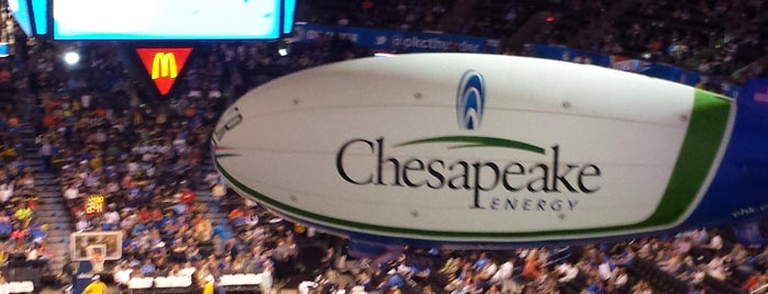 Chesapeake Energy Arena is one of Oklahoma City OK To Do.