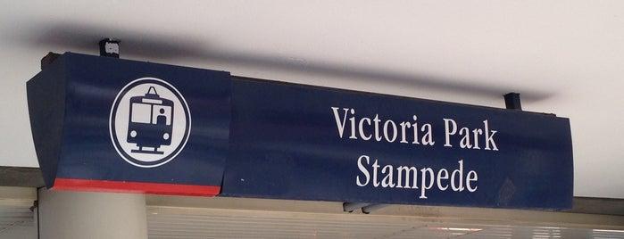 Victoria Park/Stampede (C-Train) is one of Tempat yang Disukai Kevin.