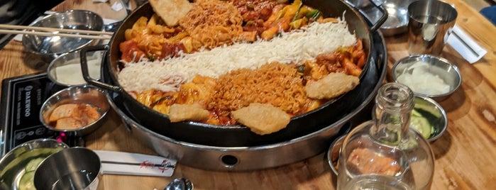 Hong Chun Cheon 닭갈비 is one of Favorite restaurants.