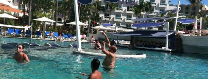 Poolside is one of Nuevo Vallarta.