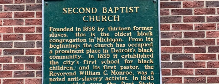 Second Baptist Church of Detroit is one of Tempat yang Disukai Aamir.