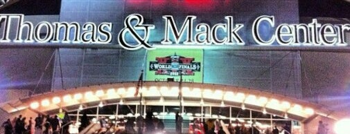 Thomas & Mack Center is one of Tempat yang Disimpan JRA.