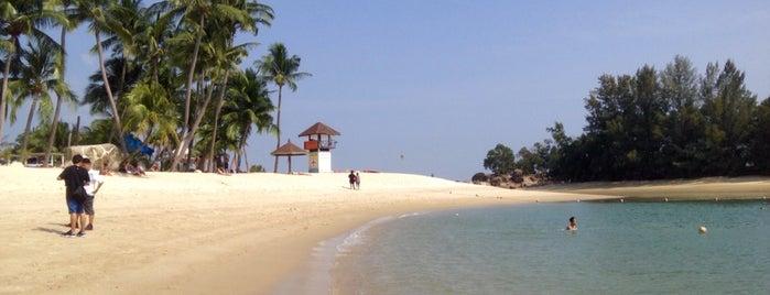 Siloso Beach is one of Tempat yang Disukai Alex.