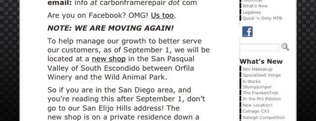 Carbon Frame Repair is one of Hidden San Diego.