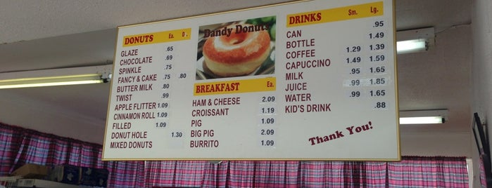 Dandy Donuts is one of Sanger.