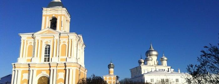 Варлаамо-Хутынский Преображенский монастырь is one of Novgorod.