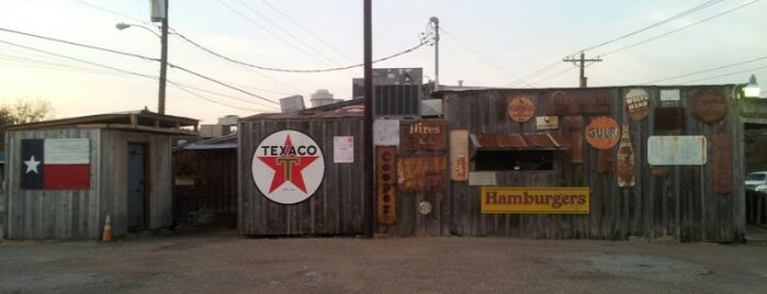 Chicken Oil Company is one of Texas Monthly 50 Greatest Hamburgers in Texas.