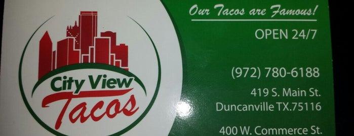 City View Tacos is one of สถานที่ที่ Reneeshia ถูกใจ.
