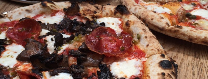 Roberta's Pizza is one of Brooklyn eats.