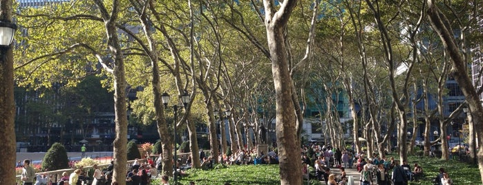 Bryant Park is one of New York, NY.