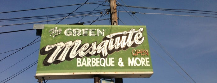 Green Mesquite BBQ is one of Austin food.