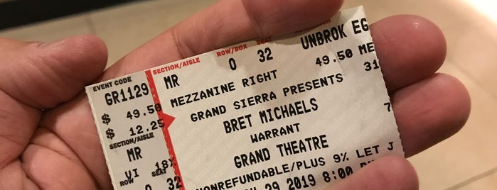 Grand Sierra Grand Theatre is one of Sue'nin Beğendiği Mekanlar.
