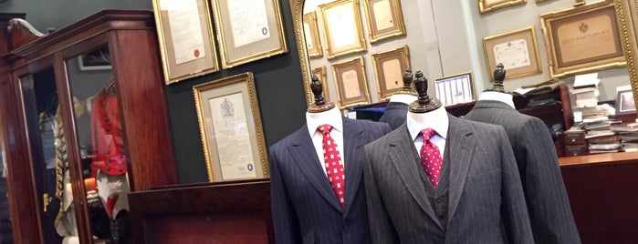 Henry Poole & Co Bespoke Tailors is one of London for P' Arenui.