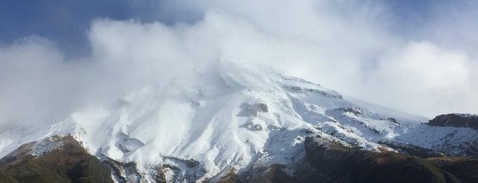 Mt Taranaki is one of New Plymouth.