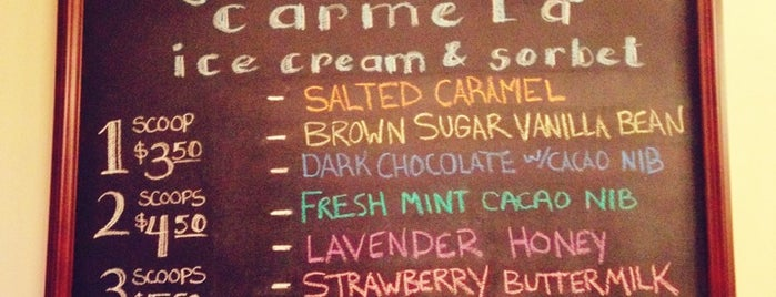 Carmela Ice Cream & Sorbet is one of La-La Land.