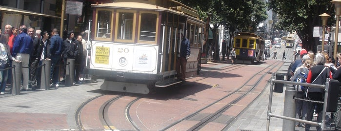Powell Street Cable Car Turnaround is one of Trips / San Francisco, CA, USA.