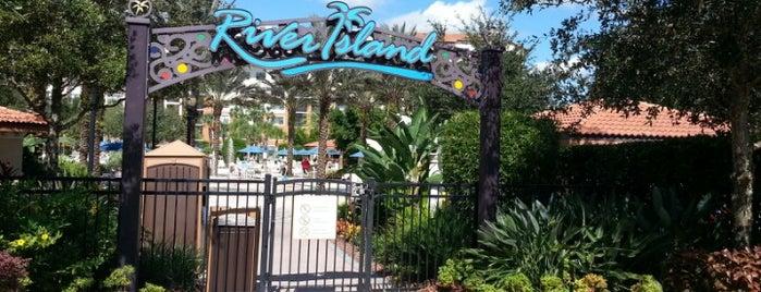 River Island At Orange Lake Resort is one of Tempat yang Disukai Christopher.
